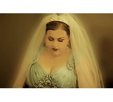 Heather is a Beautiful Bride. Photographic Print