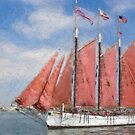 Impasto-stylized photo of the Tall Ship American Pride at the Festival of Sail in San Diego, CA US. by NaturaLight