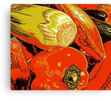 Vegetable Abstract Canvas Print