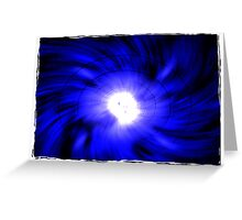 blue vortex Greeting Card