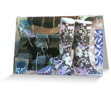 Boots Collage Greeting Card