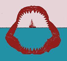 Jaws Minimalist Poster by TJ Ruesch
