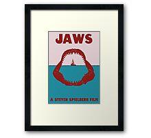 Jaws Minimalist Poster Framed Print