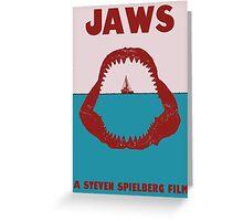 Jaws Minimalist Poster Greeting Card