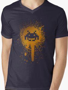 Space Blotch (Orange ver.) Mens V-Neck T-Shirt