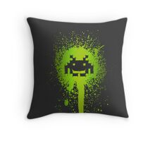 Space Blotch (Green ver.) Throw Pillow