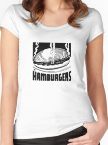 Hamburgers Women's Fitted Scoop T-Shirt