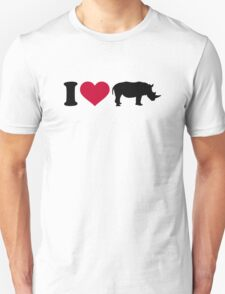 I loves Rhinos Unisex T-Shirt