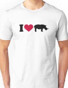 I loves Rhinos Unisex T-Shirt