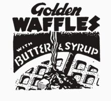 Golden waffles in Butter & Syrup by Zehda
