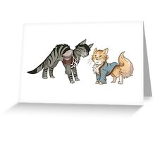 The Catquisition - Cassandra & Varric Greeting Card
