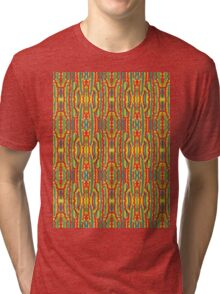 squiggle stripes Tri-blend T-Shirt