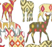 deer horse ikat party Sticker