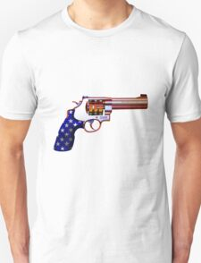 .45ACP, Are You Felling Lucky USA Casino 7'S Slot Gun T-Shirt