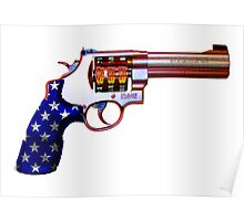 .45ACP, Are You Felling Lucky USA Casino 7'S Slot Gun Poster