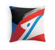 Flying the flag Throw Pillow