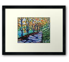 'Bass Lake in the Fall' Framed Print