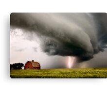 Prairie Storm Clouds lightning storm Canvas Print