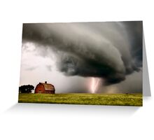 Prairie Storm Clouds lightning storm Greeting Card
