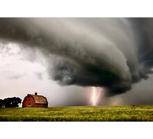 Prairie Storm Clouds lightning storm Photographic Print
