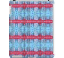 blue and red stripes iPad Case/Skin