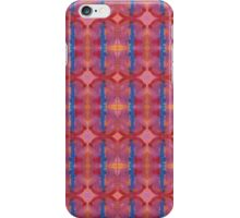 royal blue stripes and pink diamonds iPhone Case/Skin