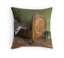 old bed Throw Pillow