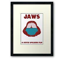Jaws Minimalist Design  Framed Print