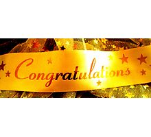 Congratulations Banner Photographic Print
