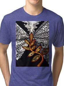 Black to Gold (some seek, some dissolve) Tri-blend T-Shirt