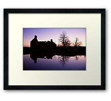 Ruin Reflection Framed Print