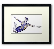 """Keep Yourself"" Kate Upton Inspired Floating Earth Girl Framed Print"