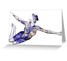 """Keep Yourself"" Kate Upton Inspired Floating Earth Girl Greeting Card"