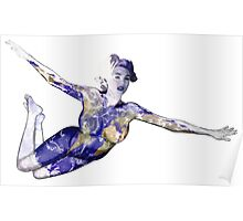 """""""Keep Yourself"""" Kate Upton Inspired Floating Earth Girl Poster"""