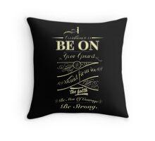 Corinthians 16:13 Throw Pillow