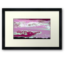 Pink Elephant Cloud-Available As Art Prints-Mugs,Cases,Duvets,T Shirts,Stickers,etc Framed Print