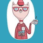Hipster cat by moryachok