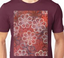 Blossoms 1 - Monoprint  Print and Ink  Unisex T-Shirt