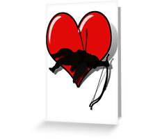 Cupid, Casualty of Love Greeting Card