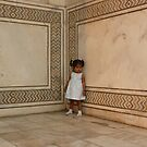 Little Girl, Taj Mahal by Lydia Cafarella