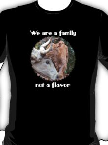 """We are a family, not a flavor"" T-Shirt"