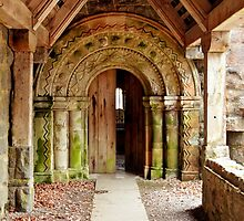 A Side Door at St Conan's Kirk, Scotland by Christine Smith