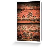 Red Rust Greeting Card