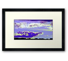 Purple Elephant Cloud-Available As Art Prints-Mugs,Cases,Duvets,T Shirts,Stickers,etc Framed Print