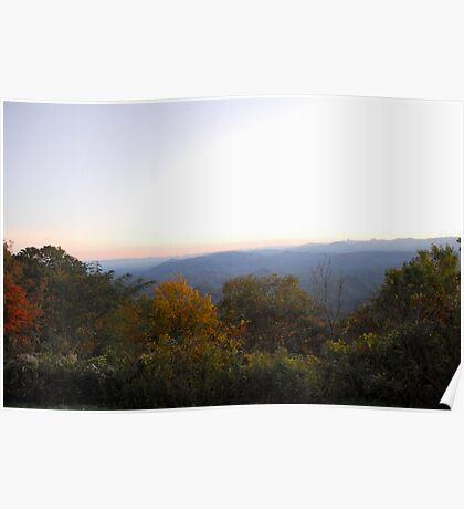 Sunset scape Poster