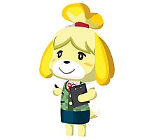 Isabelle Animal Crossing New Leaf Vector Print Photographic Print