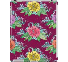 hibiscus surf berry iPad Case/Skin
