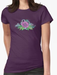 hibiscus surf berry Womens Fitted T-Shirt