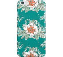 hibiscus surf retro iPhone Case/Skin