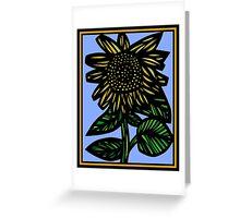 Auburn Flowers Yellow Blue Green Greeting Card